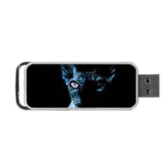 Blue Sphynx cat Portable USB Flash (Two Sides)