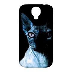 Blue Sphynx cat Samsung Galaxy S4 Classic Hardshell Case (PC+Silicone)