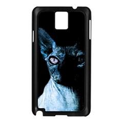 Blue Sphynx cat Samsung Galaxy Note 3 N9005 Case (Black)
