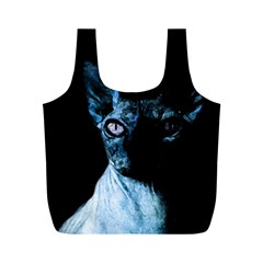 Blue Sphynx cat Full Print Recycle Bags (M)