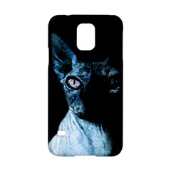 Blue Sphynx cat Samsung Galaxy S5 Hardshell Case