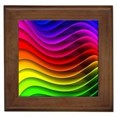 Spectrum Rainbow Background Surface Stripes Texture Waves Framed Tiles