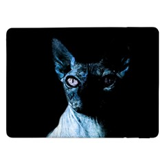 Blue Sphynx Cat Samsung Galaxy Tab Pro 12 2  Flip Case