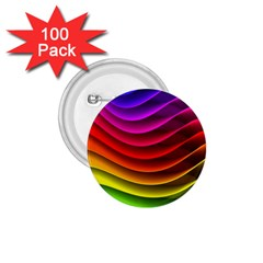 Spectrum Rainbow Background Surface Stripes Texture Waves 1 75  Buttons (100 Pack)