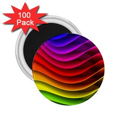 Spectrum Rainbow Background Surface Stripes Texture Waves 2.25  Magnets (100 pack)