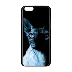 Blue Sphynx cat Apple iPhone 6/6S Black Enamel Case
