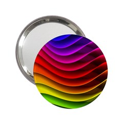 Spectrum Rainbow Background Surface Stripes Texture Waves 2.25  Handbag Mirrors