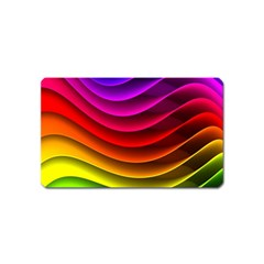 Spectrum Rainbow Background Surface Stripes Texture Waves Magnet (name Card)