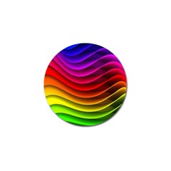 Spectrum Rainbow Background Surface Stripes Texture Waves Golf Ball Marker