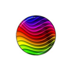 Spectrum Rainbow Background Surface Stripes Texture Waves Hat Clip Ball Marker (4 pack)