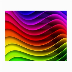 Spectrum Rainbow Background Surface Stripes Texture Waves Small Glasses Cloth