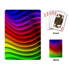 Spectrum Rainbow Background Surface Stripes Texture Waves Playing Card