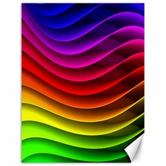 Spectrum Rainbow Background Surface Stripes Texture Waves Canvas 12  x 16
