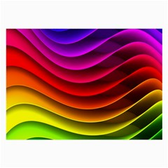 Spectrum Rainbow Background Surface Stripes Texture Waves Large Glasses Cloth