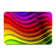 Spectrum Rainbow Background Surface Stripes Texture Waves Plate Mats