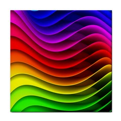 Spectrum Rainbow Background Surface Stripes Texture Waves Face Towel