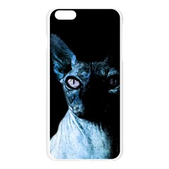 Blue Sphynx cat Apple Seamless iPhone 6 Plus/6S Plus Case (Transparent)