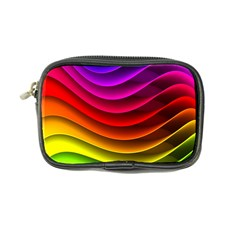Spectrum Rainbow Background Surface Stripes Texture Waves Coin Purse