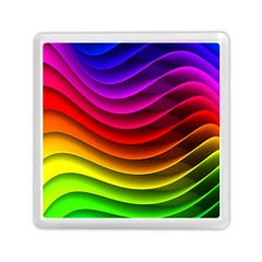 Spectrum Rainbow Background Surface Stripes Texture Waves Memory Card Reader (square)