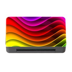 Spectrum Rainbow Background Surface Stripes Texture Waves Memory Card Reader with CF
