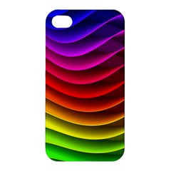 Spectrum Rainbow Background Surface Stripes Texture Waves Apple iPhone 4/4S Hardshell Case