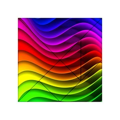 Spectrum Rainbow Background Surface Stripes Texture Waves Acrylic Tangram Puzzle (4  X 4 )