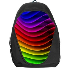 Spectrum Rainbow Background Surface Stripes Texture Waves Backpack Bag