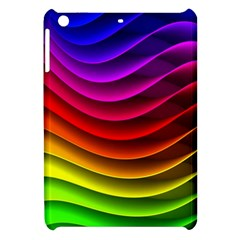 Spectrum Rainbow Background Surface Stripes Texture Waves Apple iPad Mini Hardshell Case
