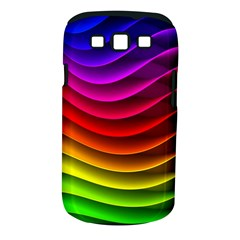 Spectrum Rainbow Background Surface Stripes Texture Waves Samsung Galaxy S III Classic Hardshell Case (PC+Silicone)