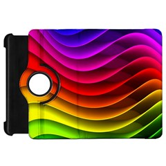 Spectrum Rainbow Background Surface Stripes Texture Waves Kindle Fire HD 7