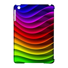 Spectrum Rainbow Background Surface Stripes Texture Waves Apple iPad Mini Hardshell Case (Compatible with Smart Cover)