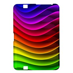 Spectrum Rainbow Background Surface Stripes Texture Waves Kindle Fire Hd 8 9