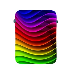 Spectrum Rainbow Background Surface Stripes Texture Waves Apple iPad 2/3/4 Protective Soft Cases