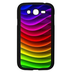Spectrum Rainbow Background Surface Stripes Texture Waves Samsung Galaxy Grand DUOS I9082 Case (Black)