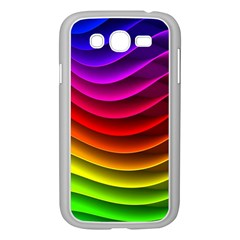 Spectrum Rainbow Background Surface Stripes Texture Waves Samsung Galaxy Grand Duos I9082 Case (white)