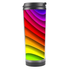 Spectrum Rainbow Background Surface Stripes Texture Waves Travel Tumbler