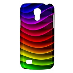 Spectrum Rainbow Background Surface Stripes Texture Waves Galaxy S4 Mini