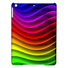 Spectrum Rainbow Background Surface Stripes Texture Waves iPad Air Hardshell Cases