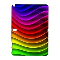 Spectrum Rainbow Background Surface Stripes Texture Waves Galaxy Note 1