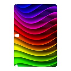 Spectrum Rainbow Background Surface Stripes Texture Waves Samsung Galaxy Tab Pro 12.2 Hardshell Case