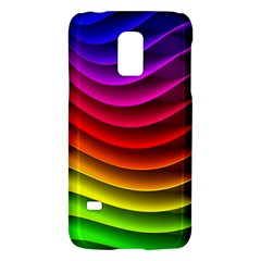 Spectrum Rainbow Background Surface Stripes Texture Waves Galaxy S5 Mini
