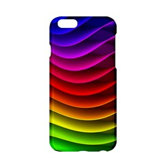 Spectrum Rainbow Background Surface Stripes Texture Waves Apple iPhone 6/6S Hardshell Case