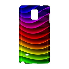 Spectrum Rainbow Background Surface Stripes Texture Waves Samsung Galaxy Note 4 Hardshell Case