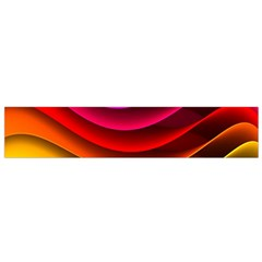 Spectrum Rainbow Background Surface Stripes Texture Waves Flano Scarf (small)