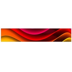 Spectrum Rainbow Background Surface Stripes Texture Waves Flano Scarf (Large)