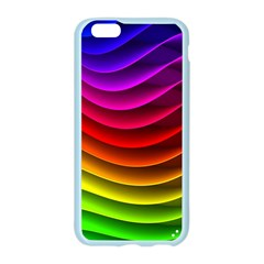 Spectrum Rainbow Background Surface Stripes Texture Waves Apple Seamless iPhone 6/6S Case (Color)