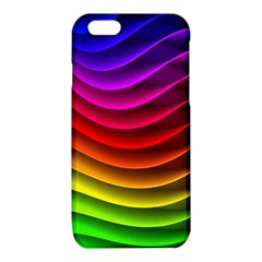 Spectrum Rainbow Background Surface Stripes Texture Waves iPhone 6/6S TPU Case