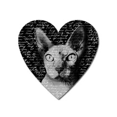 Sphynx cat Heart Magnet