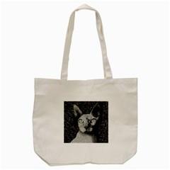 Sphynx cat Tote Bag (Cream)