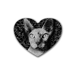Sphynx cat Heart Coaster (4 pack)